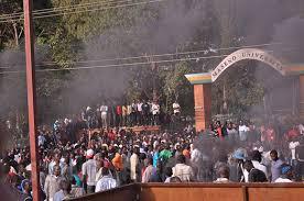 Maseno University chaos. Photo courtesy of www.standardmedia.co.ke