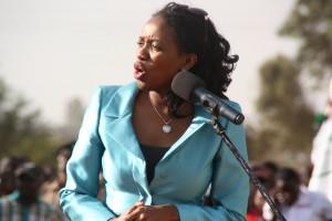 Susan Kihika, Speaker of the County Assembly of Nakuru. She sensationally said that MCA's who fought at the assembly last week copied the national assembly.