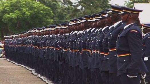Police officers during a past function. Photo courtesy of All Africa News