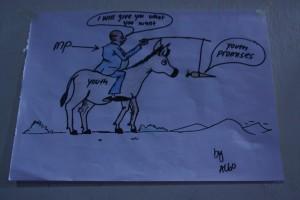 Cartoon on MP lies