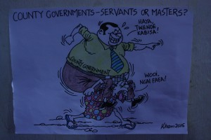 Cartoon on county government as masters