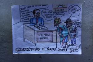 Cartoon on wazee funds