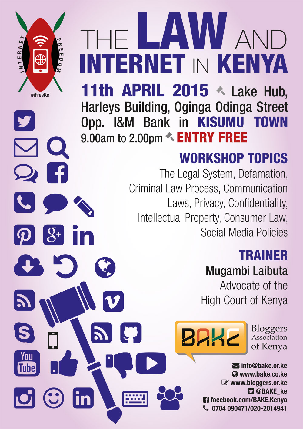 The Law and Internet in Kenya Kisumu Workshop