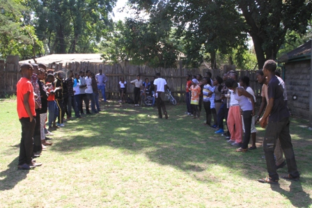 Artists who turned up for the auditions at the arts threatre in Nakuru town