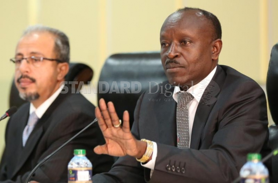 Commission of Inquiry on Dissolution of Makueni County Chair Mohammed Nyaoga (right) and Commissioner Taib Ali Taib during the hearing at KICC Read more at: http://www.standardmedia.co.ke