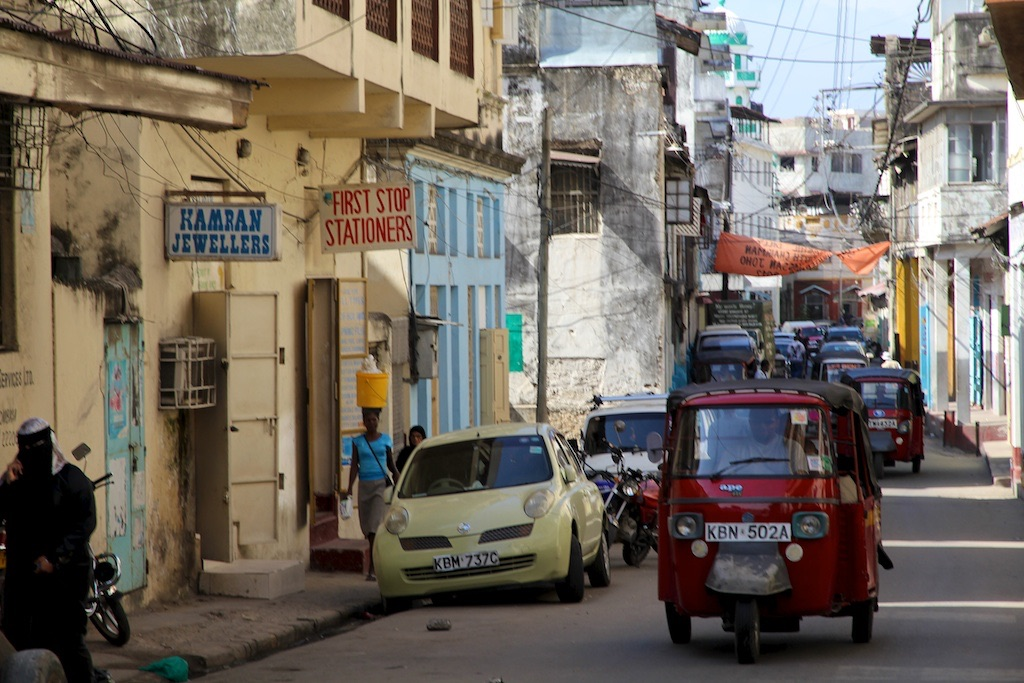 Tuk Tuk in Old Town Mombasa