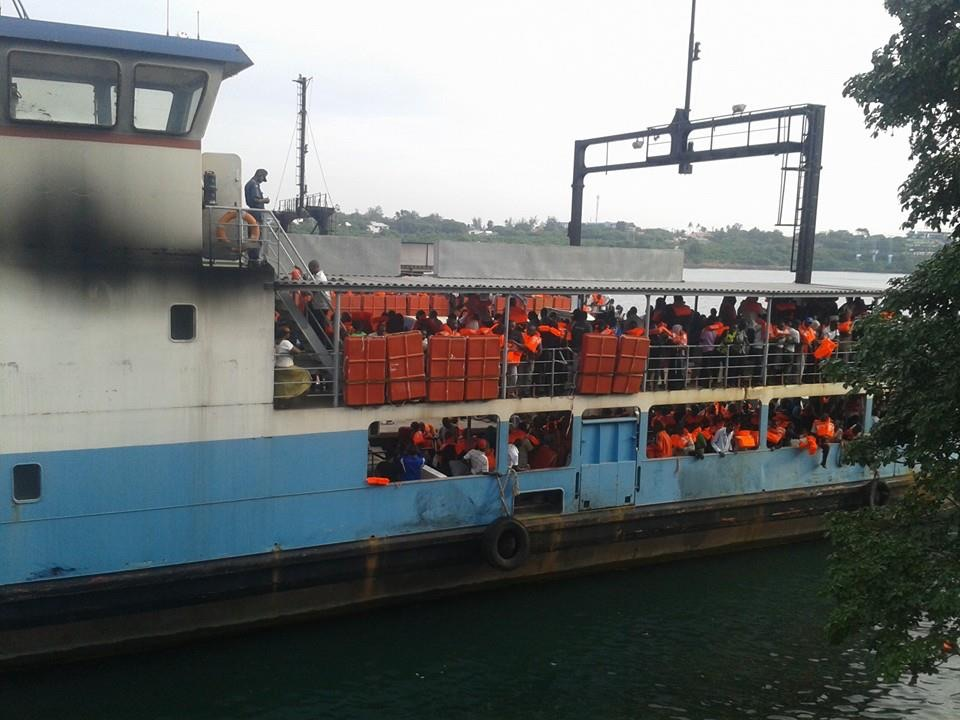 Stalled Likoni Ferry drifts after the engine failed.
