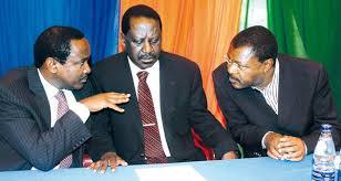 CORD limiaries Raila Odinga,Kalonzo Musyoka and Moses Wetabgula. Kalonzo and Wetangula has said dissolution of Makueni should be the last option Photo:Kenya Today