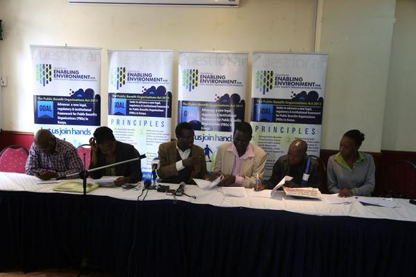 Press Conference on the de-registration of HAKI Africa and MUHURU