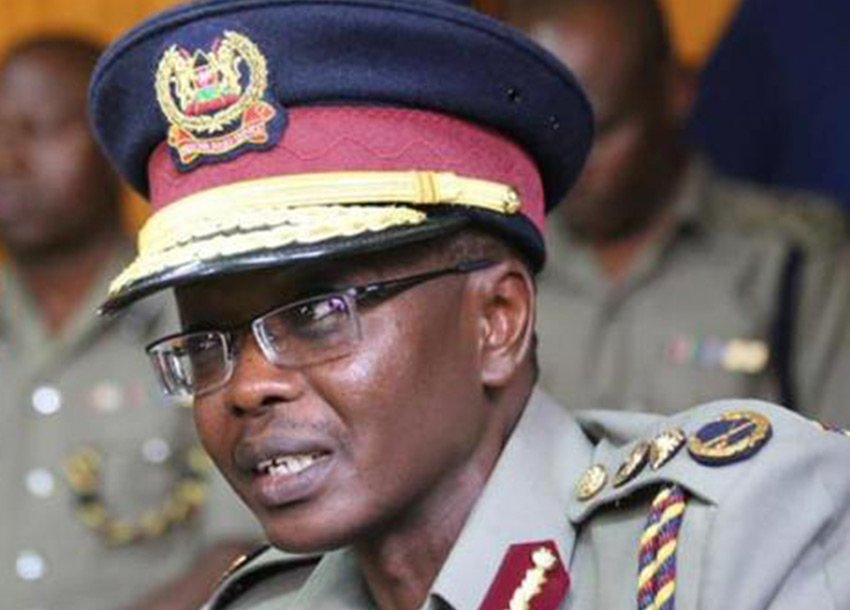 Inspector General of Police, Joseph Boinnet. He has warned of attackers by Al Shabaab insurgents calling for vigilance. [Photo: citizen.co.ke)