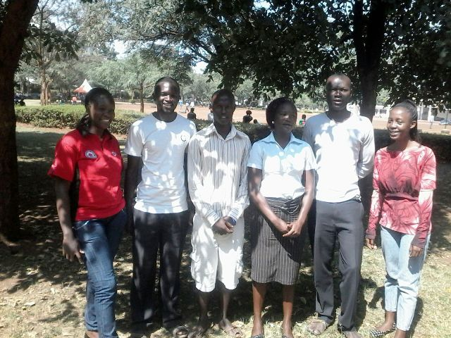 Some of the youths championing Jukumu in Kisumu County