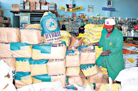 A certfied seeed shop.Makueni County Government has procured 36.5 metric tonnes of assorted seeds for farmers across the county Photo:Nation.co.ke