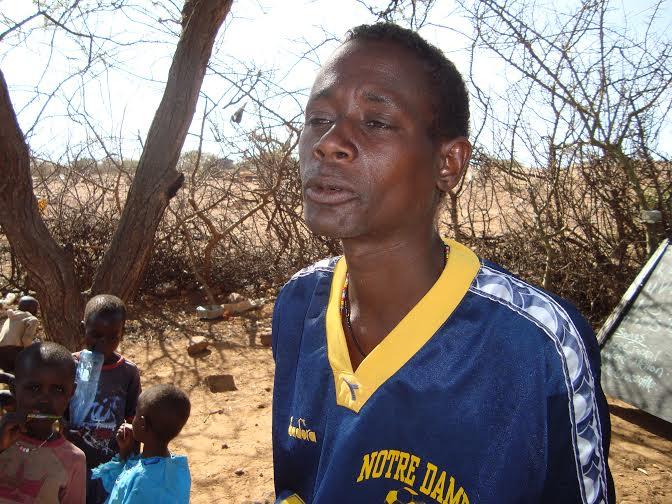 Paulo Lewema, an ECDE teacher. He says they only want the pupils to know how to read and write. [Photo: Malachi Motano]