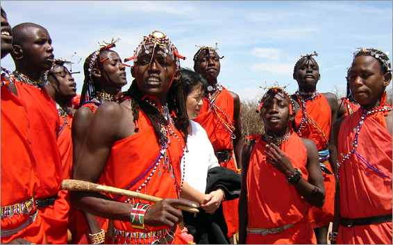 Maasai Morans. One of them says that FGM is a practice that should not be eliminated from their culture. [Photo: Malachi Motano]